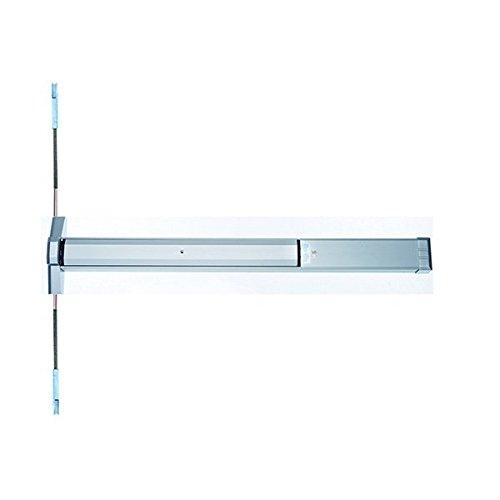 Slimline Concealed Vertical Rod Panic Exit Device in Aluminum Finish, for 36'' wide door Durable commercial & residential, door hardware, door handles, locks