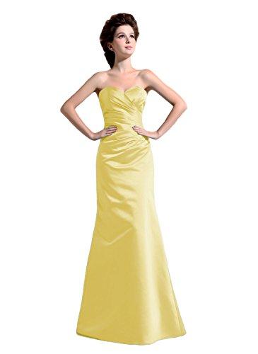 Bridal_Mall - Robe - Trapèze - Sans Manche - Femme -  Jaune - 54 plus