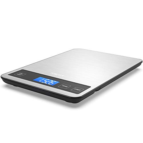 Food Scale, HOMEVER Food Scales Digital Weight grams and oz,15kg Digital Food Scale with 96.3 in Big...