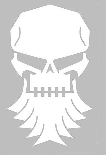 Bearded skull vinyl sticker