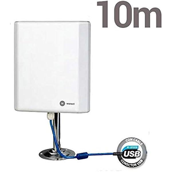 Antena Wifi largo alcance 36dbi 10 metros cable 2w: Amazon.es ...