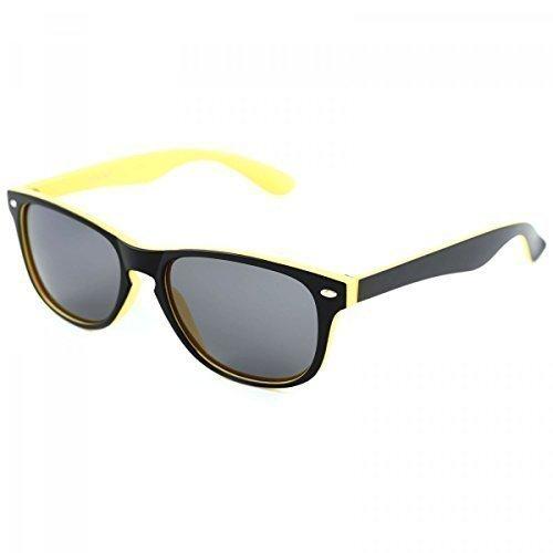 Polarisation Designer Sport Sonnenbrille Wayfarer Brillen Polbrille Sport 20230, Rahmenfarbe:Gelb