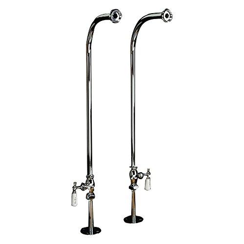 Barclay 4502-PL-SN Freestanding Bath Supply