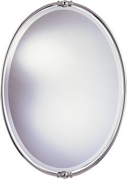 Murray Feiss MR1044PN New London Decorative Mirror, Polished Nickel