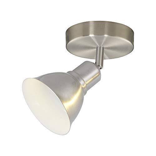 1-Light Adjustable Track Lighting Kit, Brushed Nickel Finish, Bulbs Included