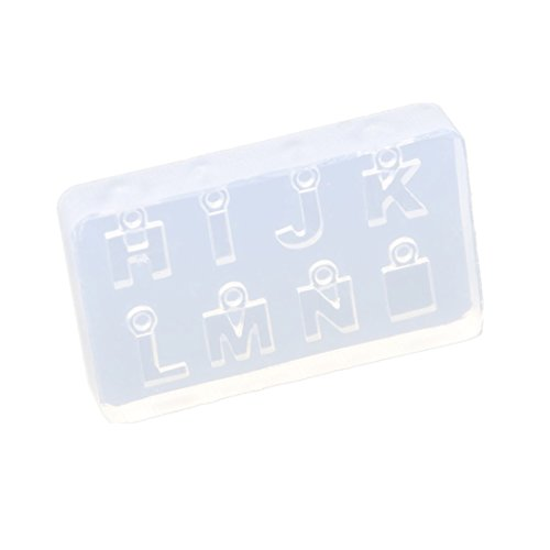 Alphabet Casting Mold (Jewelry Pendant Silicon Mold Transparent Alphabets Letters Casting Mould DIY Craft 1)