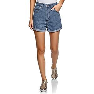 oodji Ultra Donna Shorts in Jeans con Risvolti 7 spesavip