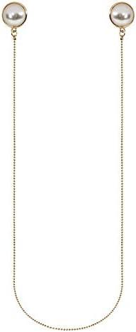 Moda coreana dulce larga imitación perla pendientes metal temperamento colgante cuello de una sola pieza borla pendientes accesorios de las mujeres accesorios de las mujeres