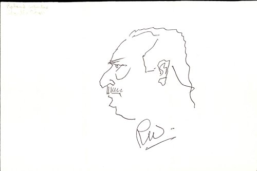 Roland Winters – Self-caricature Signed