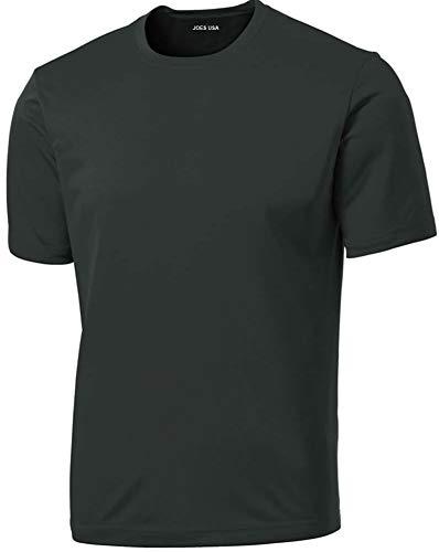 Joe's USA- Men's Tall DRI-Equip Athletic Cross fit T-Shirts,3XLT-Iron.Grey