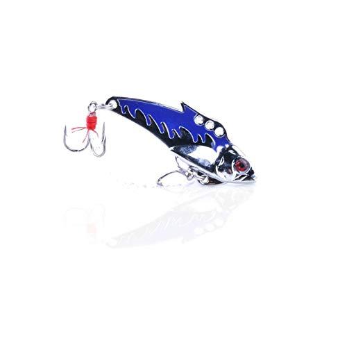 (ILLIO World Wind #5001 New Lot 10pcs Metal Fishing Lures Bass CrankBait Spoon Crank Bait Tackle)