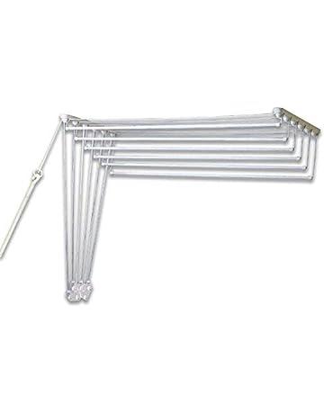 Gimi - Tendedero Lift 120 Pared, Acero, Color Blanco