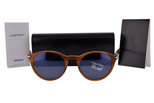 Persol PO3092SM Sunglasses Sienna Brown Vintage Celebration w/Blue Lens 900656 - Vintage Persol Sunglasses