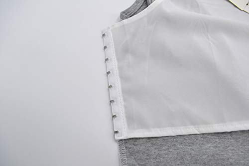 BaronHong Plus Size Chest Binder Cotton Vest Tank Tops for Tomboy Lesbian(Gray,L)