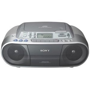Sony CFDS01 CD Radio Cassette Recorder - Silver by Sony