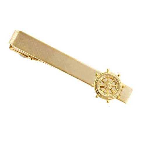JJ Weston Ships Wheel Tie Clip. Made in the USA.