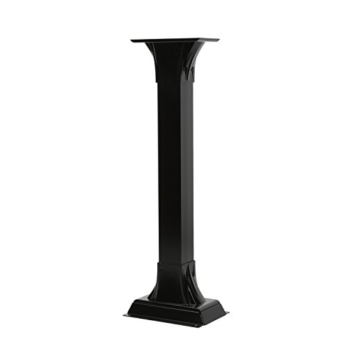 Gibraltar Mailboxes Callaway  Cast Aluminum Black, Adjustable Mailbox Post, CP000B00