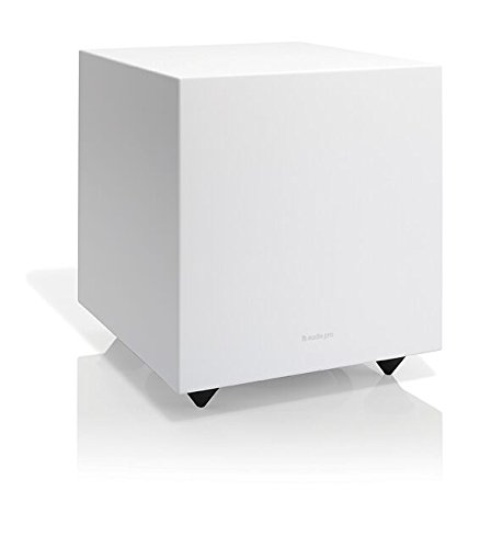 Audio Pro Addon Sub Home Theater Music Subwoofer Wired - Powerful Bass - White by Audio Pro