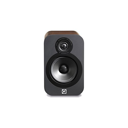 Amazon Q Acoustics 3020 Bookshelf Speakers Pair American Walnut Home Audio Theater