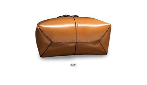 Sucastle ® 2018 Borsa a tracolla da donna / vera pelle / Retro / Grande capacità / multifunzione / impermeabile /(30*14*29cm )