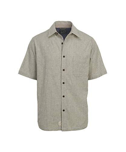 Woolrich Men's Mainroad Eco Rich Short Sleeve Shirt, Wool Cream (Beige), Size ()