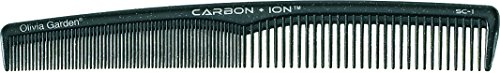 Olivia Garden Carbon + IonTM Cutting Comb SC-1 - High-Tech Carbon Comb for Precision Hair Cutting and Styling, Ion-Charged ()