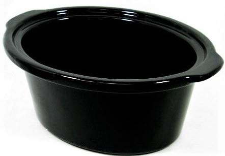 Genuine Slow Cooker Crock Pot Liner Black Oval 6-Quart 33162 for Hamilton Beach (Best Slow Cooker With Ceramic Insert)