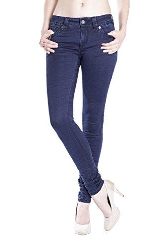 Monkey Mujer Skinny Azul Para Básico Blue Jeans Vaqueros dzqnYHHU