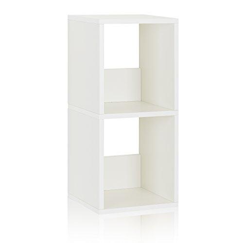 eco 2 shelf narrow bookcase