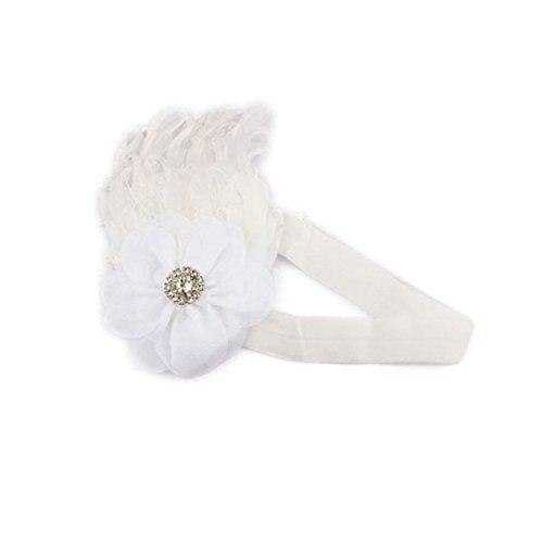 Nouveau 2014 cute adorable bébé filles douces Ruffle Bandeau Serre-tête pour enfants (New White)