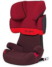 Cybex Silver - Silla de coche para niños solution x-fix, para coches con y sin isofix, grupo 2/3 (15-36 kg), desde los 3 hasta los 12 años aprox., rumba red