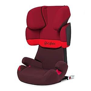 Cybex - Silla de coche grupo 2/3 Solution X-Fix, para coches con y sin ISOFIX, 15-36kg, desde los 3 hasta los 12 años aprox., Rumba Red