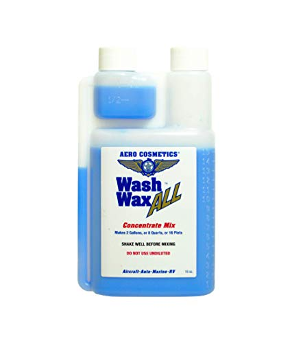 Aero Cosmetics Wet or Waterless Car Wash Wax Concentrate Gallon Aircraft Quality Wash Wax for your Car RV & Boat. Guaranteed Best Waterless Wash on the Market 16 Ounces = 2 Gallons