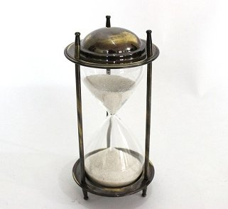 Classy Look Nautical Vintage Sand Timer Hour Glass Antique Finish Brass