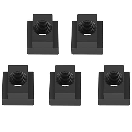 5 pcs/Lot Black Oxide Finish T Slot Nuts M16 Threads Fit Into T-Slots in Machine Tool Tables by Lufasa