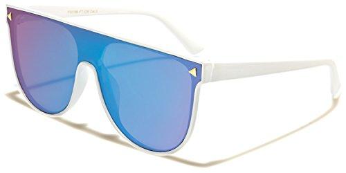 SUNGLASSES Lunette Femme Blue Lens soleil SDK Taille de unique White OFZncW