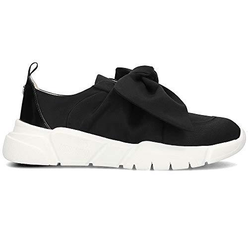 Raso 2019 Zapatos Love Moschino Negro Zapatilla De Lazo Primavera Mujer Verano w6vRtq6
