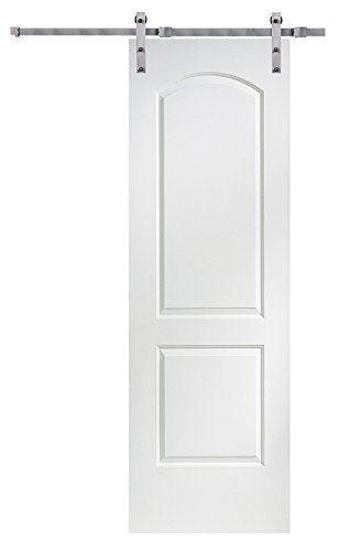 National Door Company Z020098 Solid Core Molded 2-Panel Archtop, Primed, 32'' x 96'', Barn Door Unit, 32'' x 96'' by National Door Company