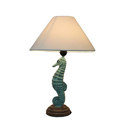 - Mediterranean Seahorse Table Lamp, Bedroom Bedside Decoration, Living Room Coffee Table, Study Desk,Green