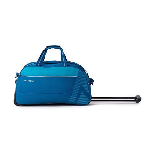 Aristocrat Dale Polyester 51.6 Cms Blue Travel Duffle with Corner Guards