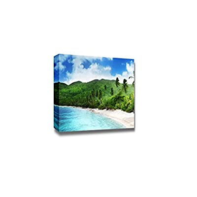Canvas Prints Wall Art - Beautiful Seascape Beach in Sunset Time on Mahe Island, Seychelles | Modern Home Deoration/Wall Art Giclee Printing Wrapped Canvas Art Ready to Hang - 16
