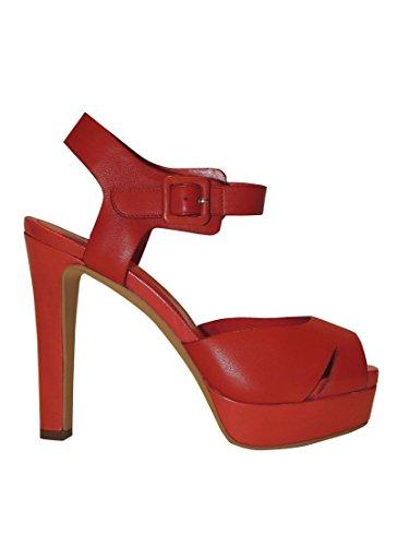 Bruno Premi - Sandalias de vestir de Piel para mujer Rojo Corallo taglia unica