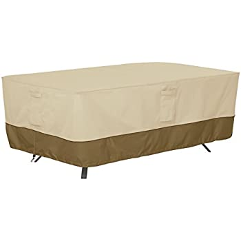 Good Classic Accessories Veranda Rectangular/Oval Patio Table Cover   Durable  And Water Resistant Patio Furniture