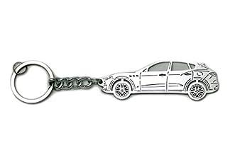 Llavero con anillo para llave de acero de Maserati Levante ...