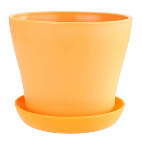 (Clearance Sale! Plastic Plants Nursery Pot, Iuhan Plastic Planters, Indoor Flower Pot, Plant Pot, Mini Flower Seedlings Nursery Pot, Flower Pot with Pallet Home Office Decor)