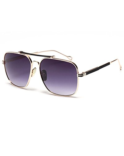 Konalla Vintage Square Flash Mirror UV Protection Unisex Sunglasses - Repair Sunglass Vegas Las