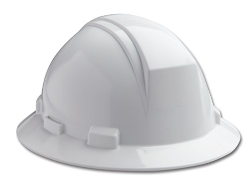 Dynamic Safety HP642R/01 Kilimanjaro Hard Hat with 4-Point Nylon Suspension and Sure-Lock Ratchet Adjustment, ANSI Type II, One Size, White