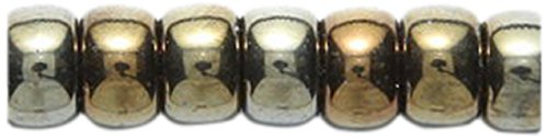 (Preciosa Ornela Traditional Czech Glass Crow Roller 150-Piece Beads, 6mm, Brown Iris)