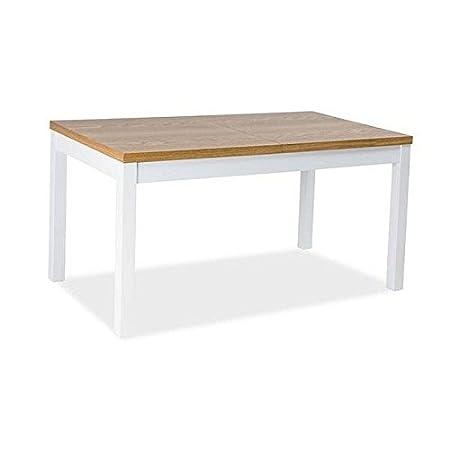 Lectus Mesa extensible 150 - 195 cm Diseño escandinavo. Roble ...