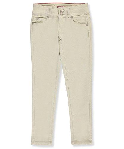 Gogo Star Big Girls' Stretch Skinny Jeans - cream, 7
